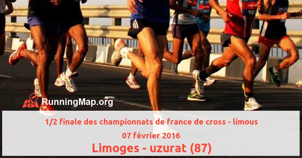 1/2 finale des championnats de france de cross - limous