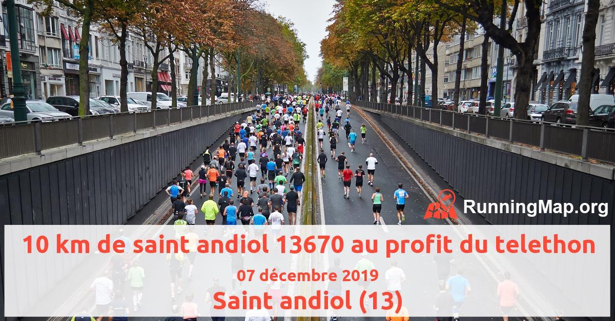 10 km de saint andiol 13670 au profit du telethon