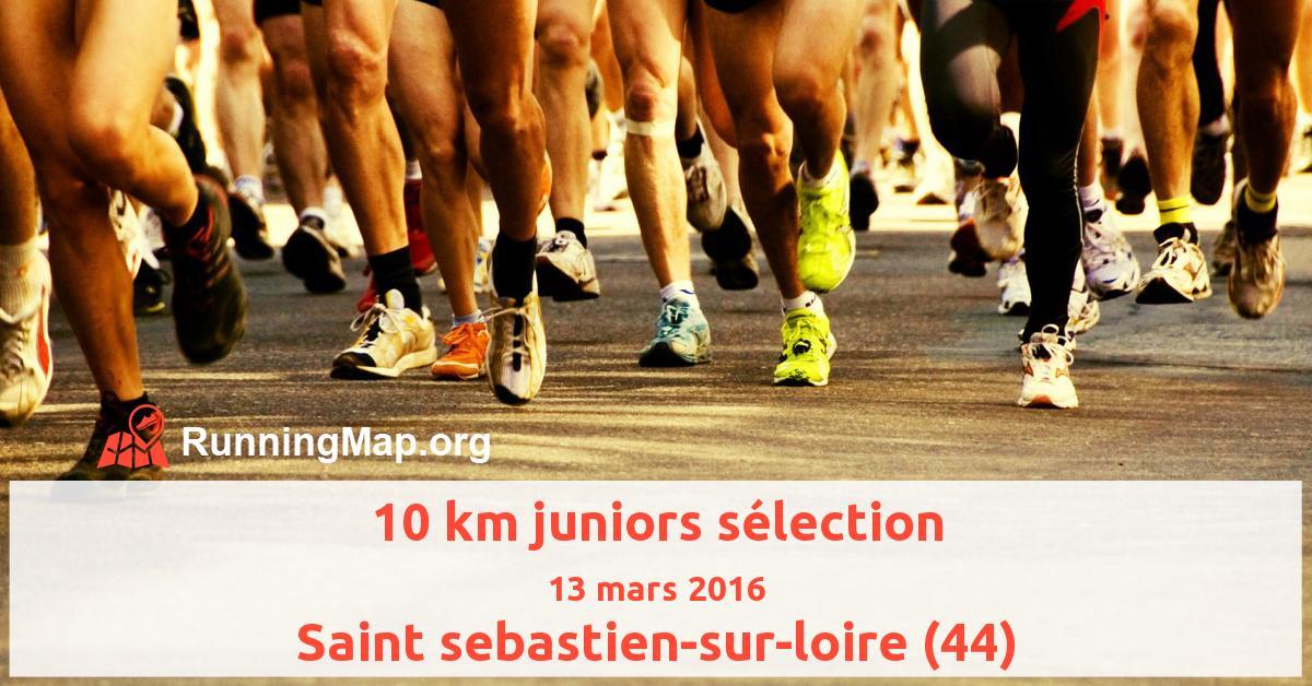 10 km juniors sélection