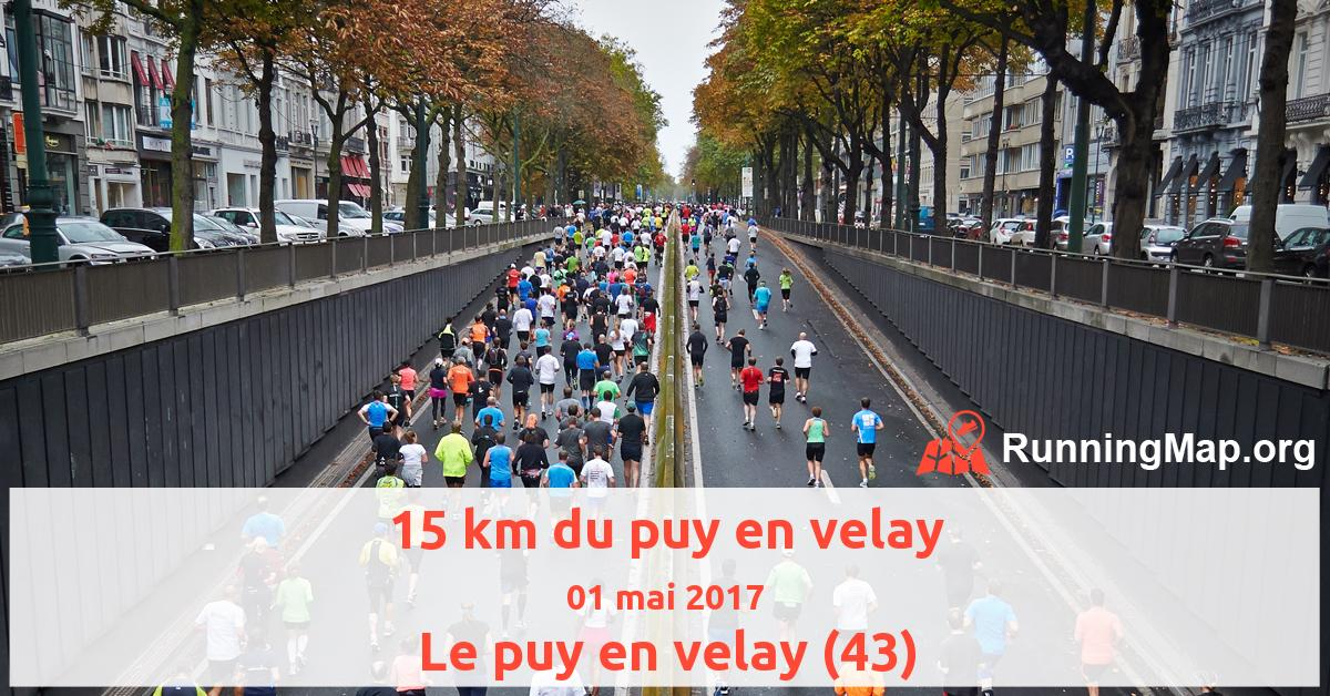 15 km du puy en velay 2017 running map - Piscine la vague le puy en velay ...