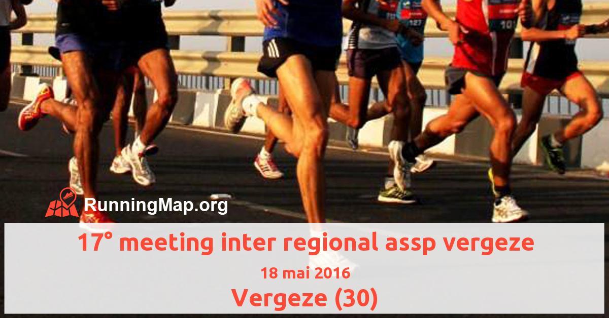 17° meeting inter regional assp vergeze