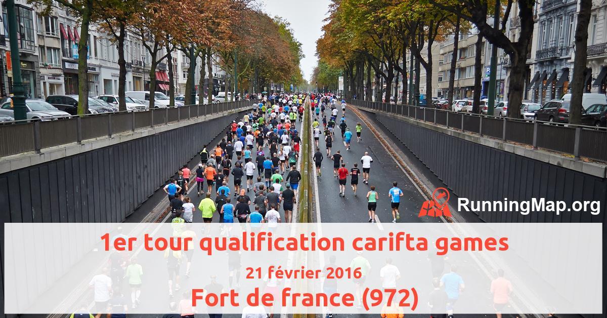 1er tour qualification carifta games