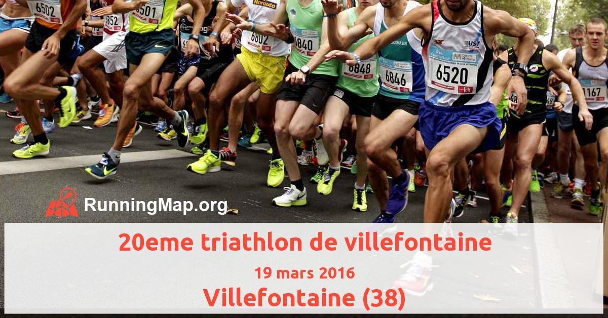 20eme triathlon de villefontaine