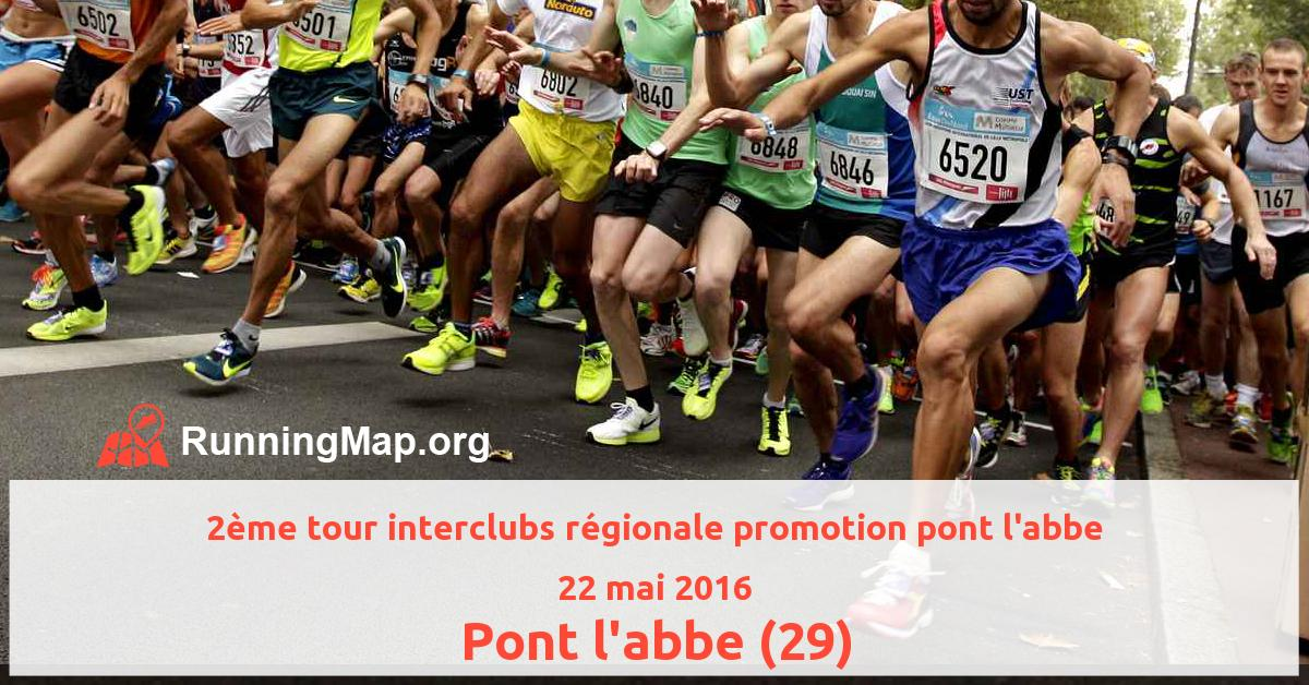 2ème tour interclubs régionale promotion pont l'abbe