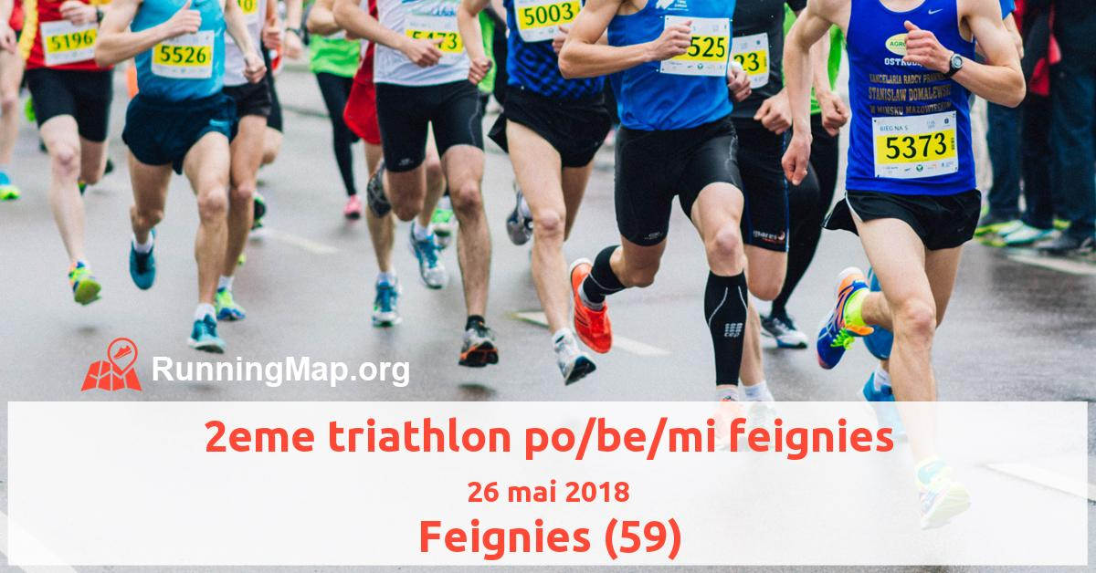 2eme triathlon po/be/mi feignies