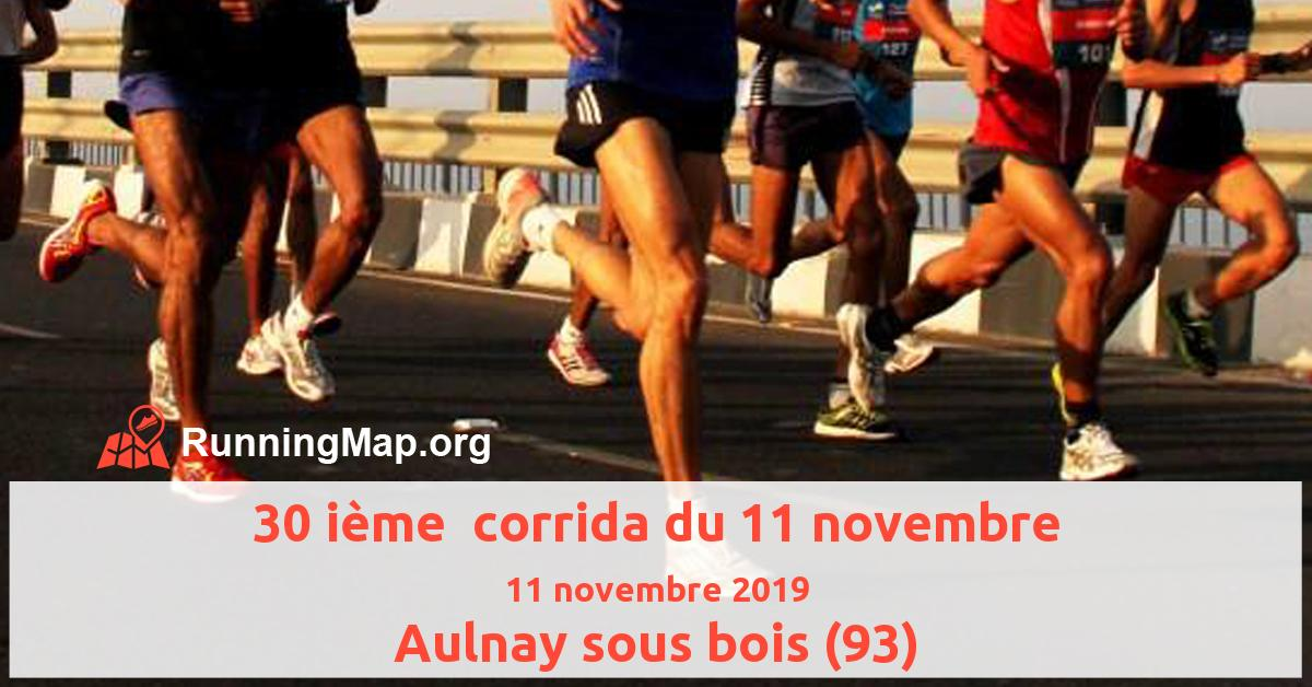 30 ième  corrida du 11 novembre