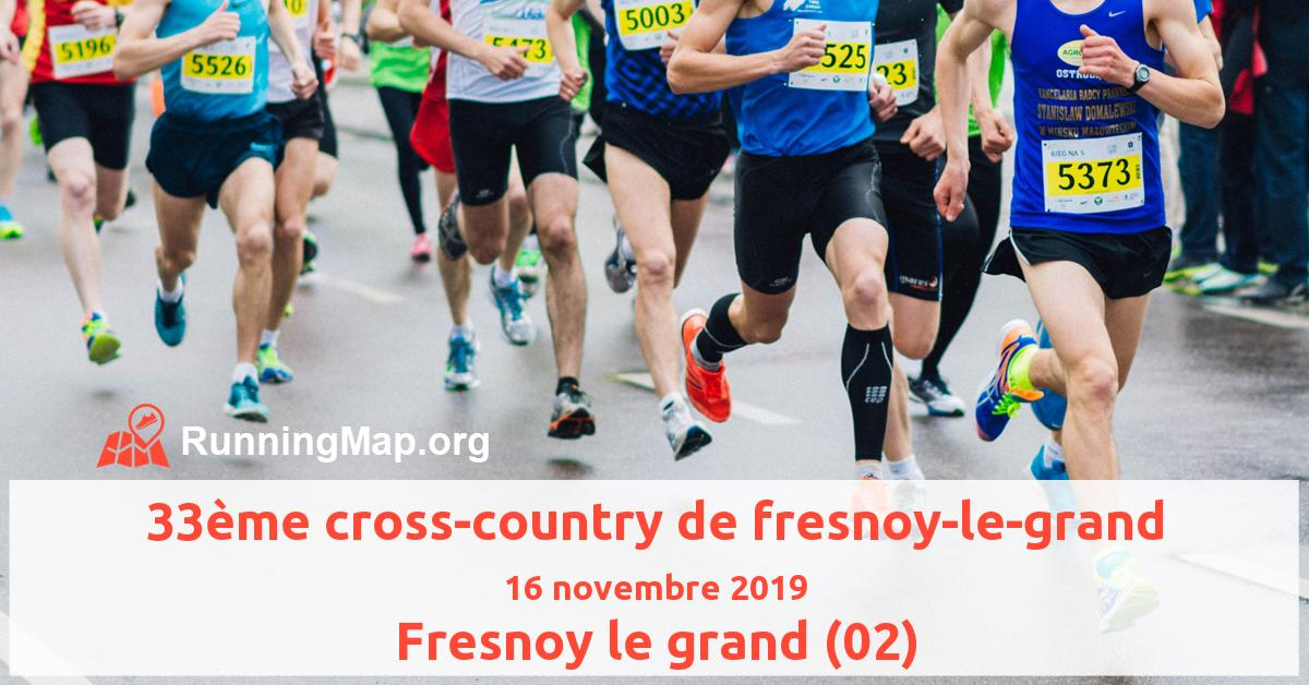 33ème cross-country de fresnoy-le-grand