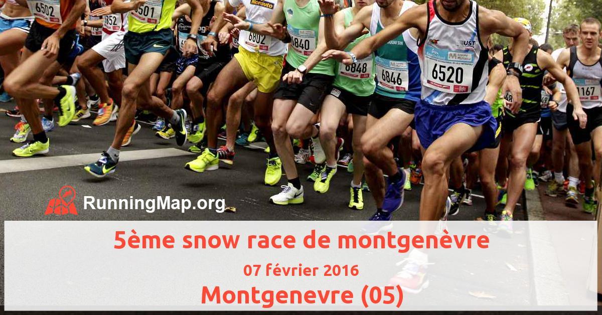 5ème snow race de montgenèvre