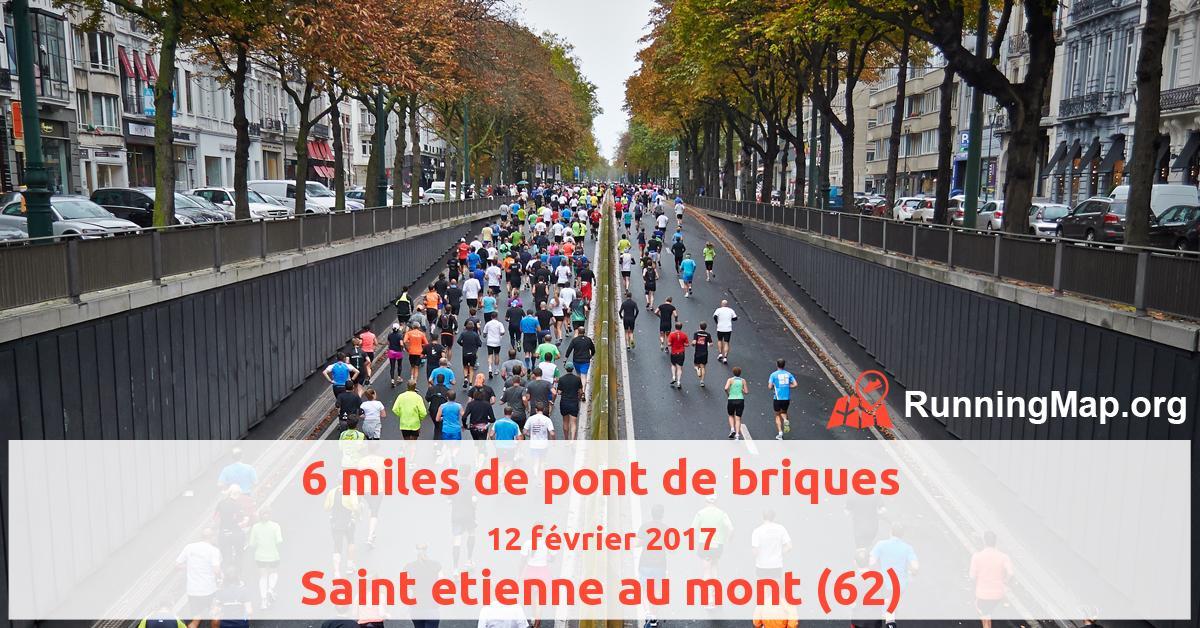 6 Miles De Pont De Briques 2017 Running Map