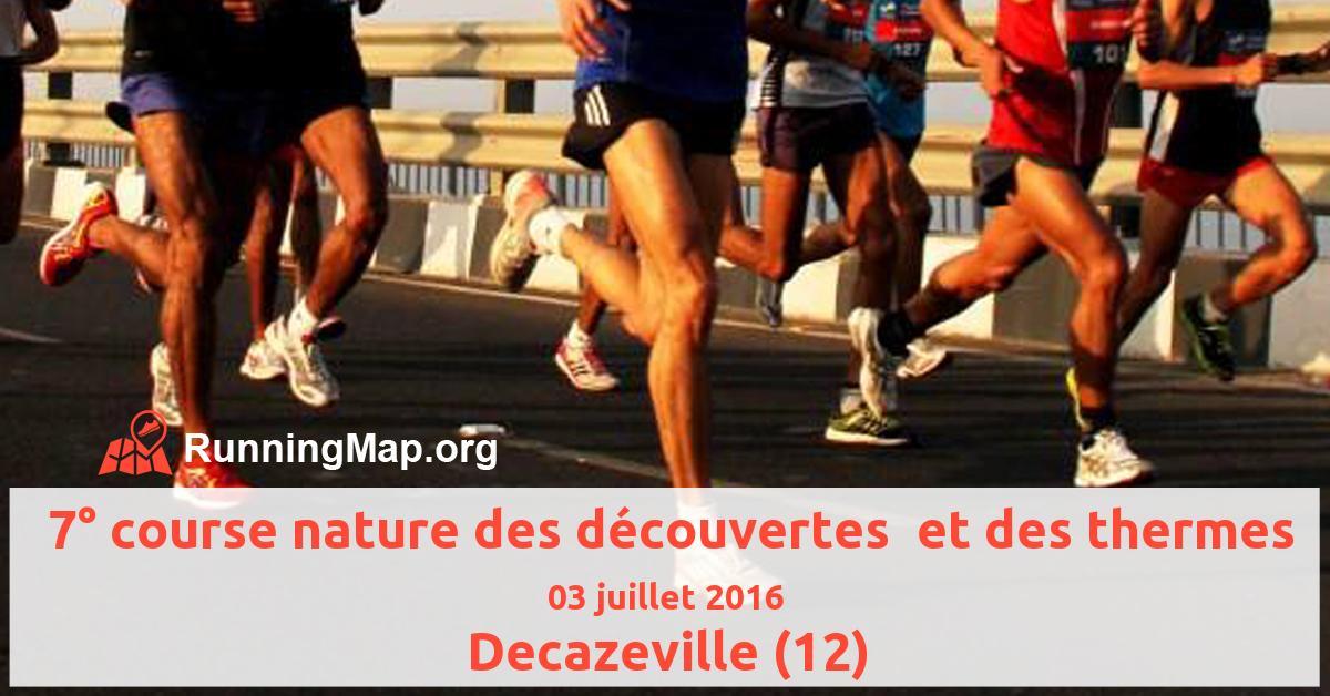 7° course nature des découvertes  et des thermes