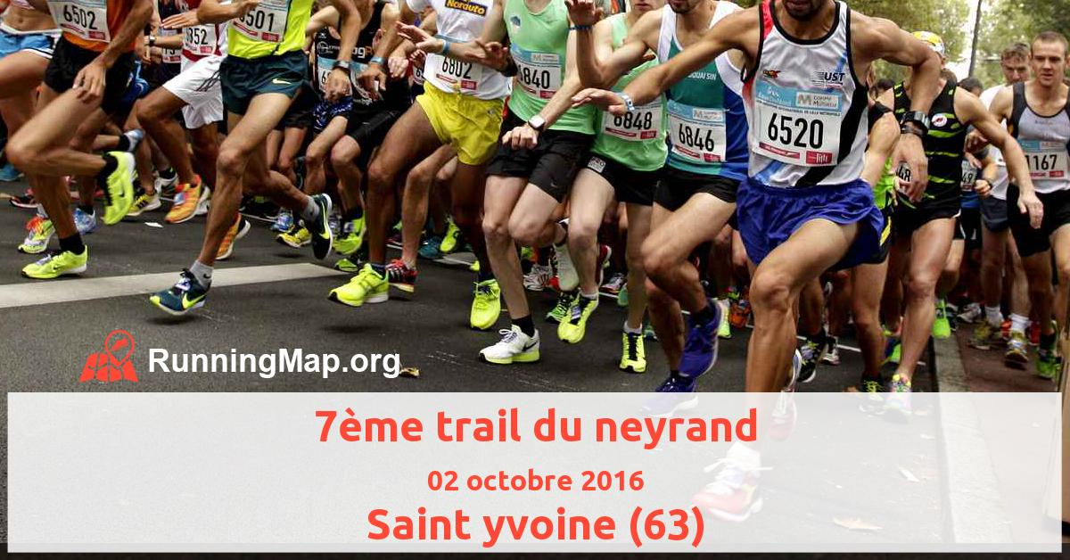 7ème trail du neyrand