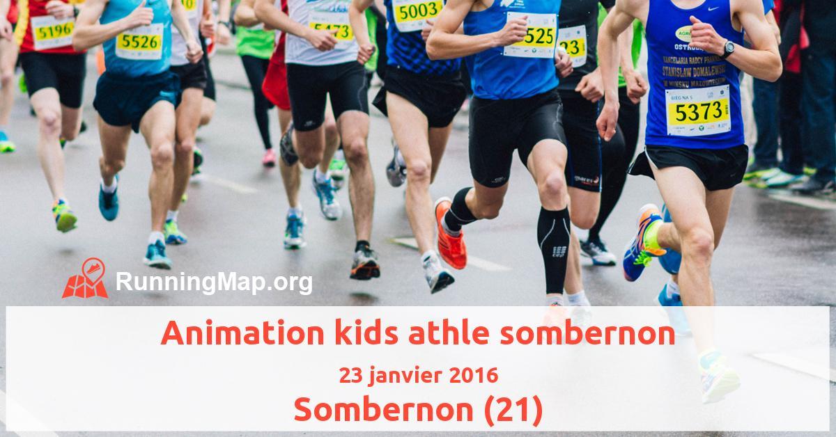 Animation kids athle sombernon