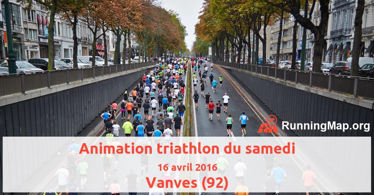 Animation triathlon du samedi