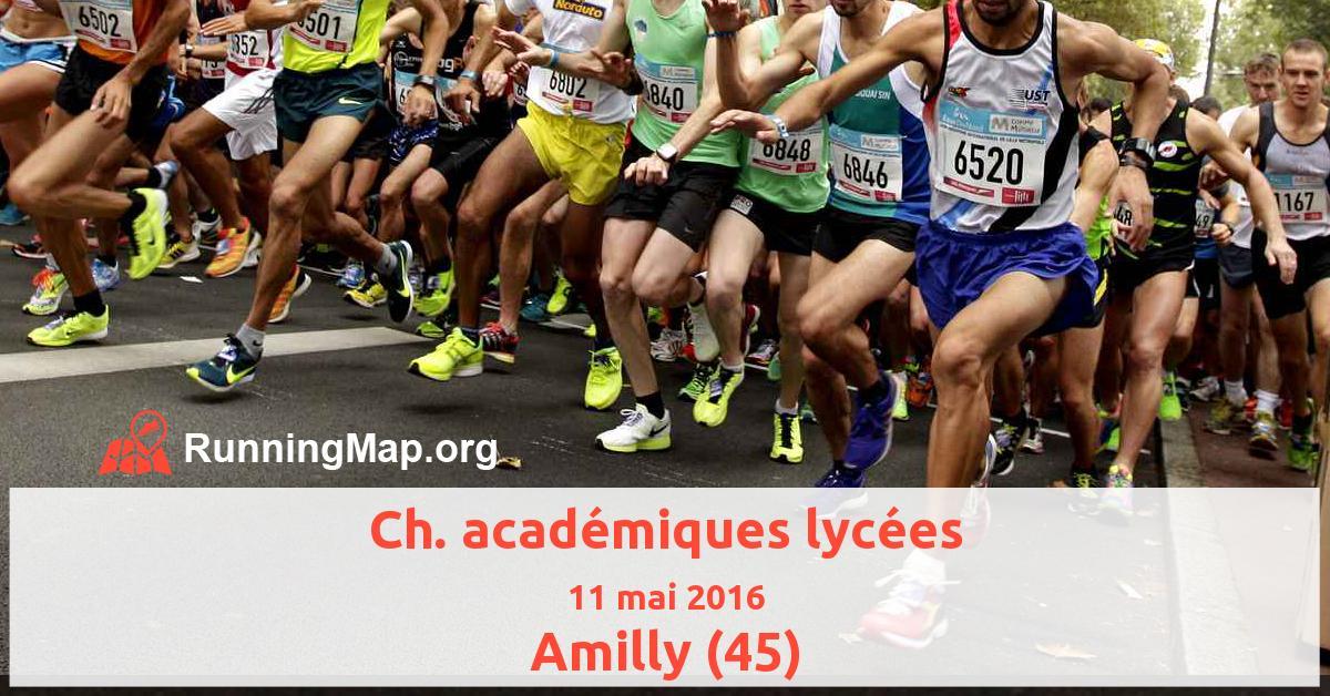 Ch. académiques lycées