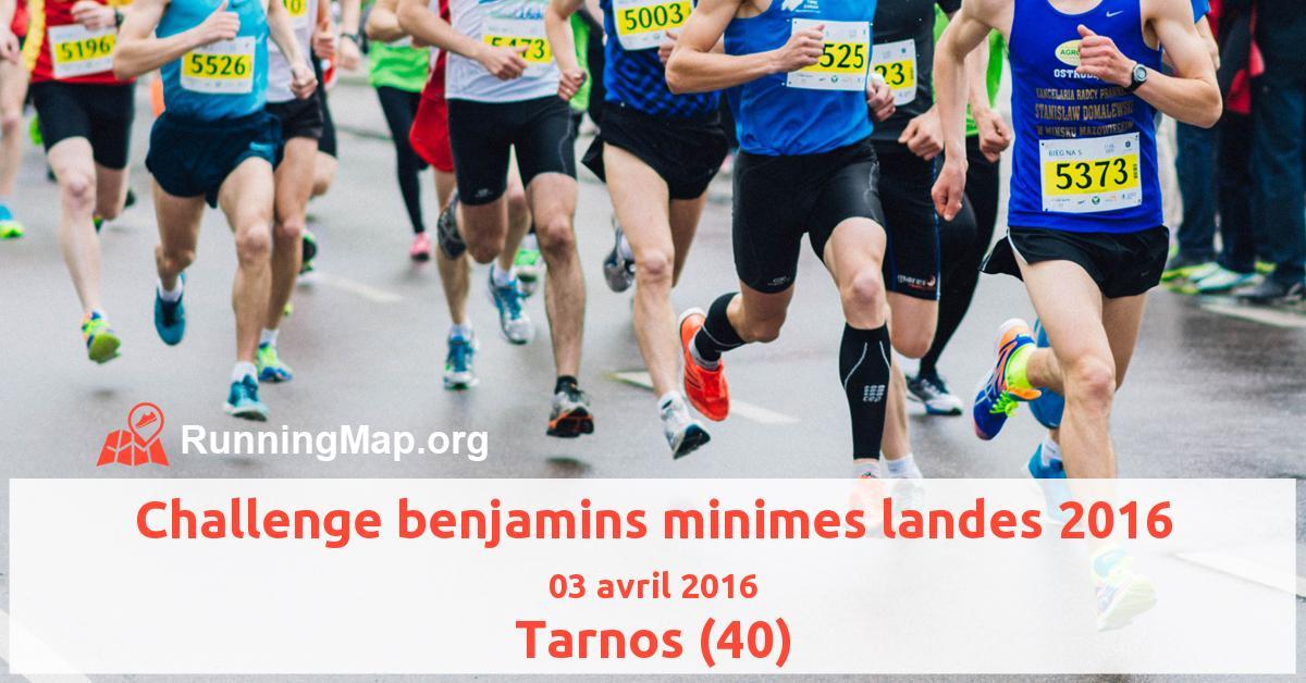 Challenge benjamins minimes landes 2016
