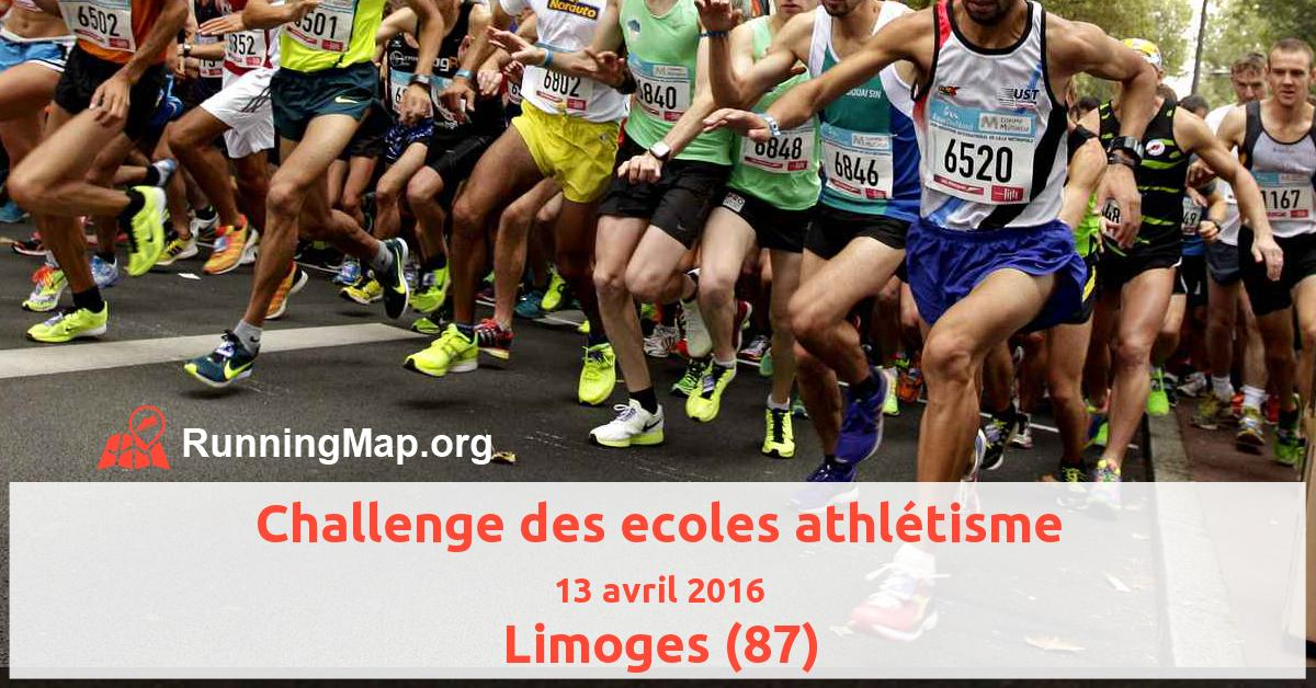 Challenge des ecoles athlétisme