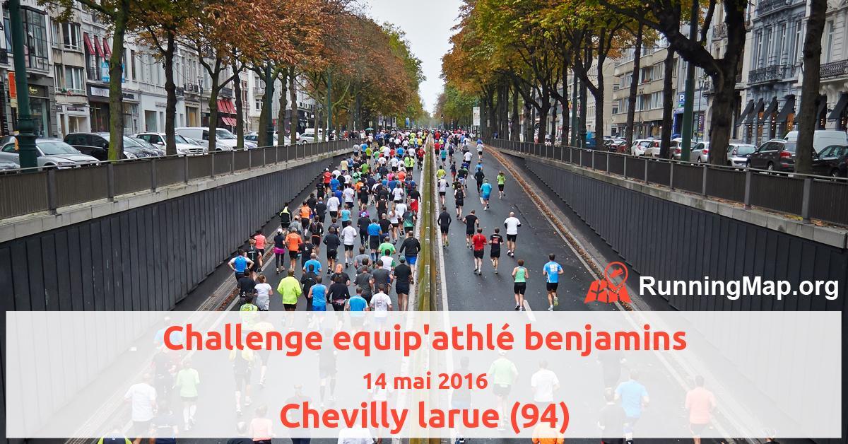 Challenge equip'athlé benjamins