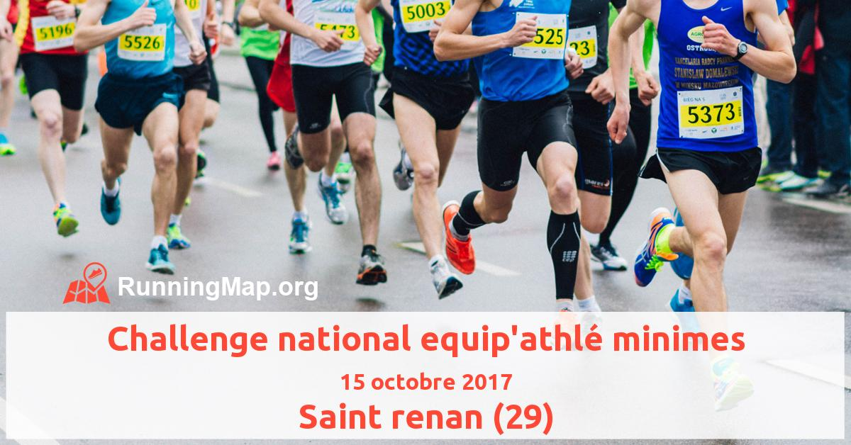 Challenge national equip'athlé minimes