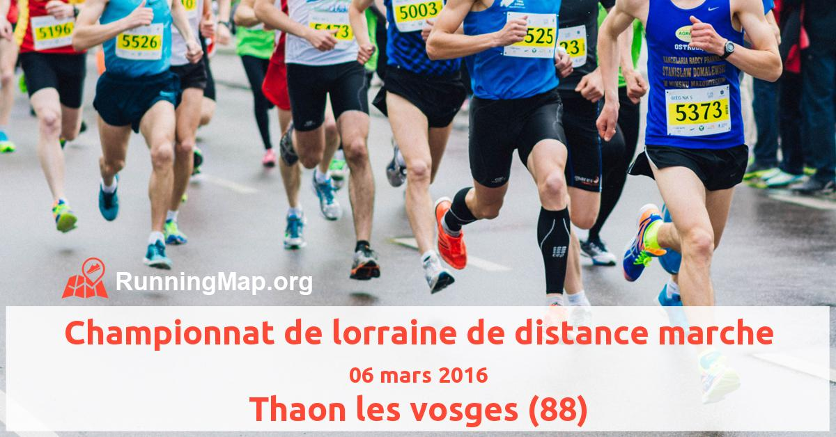 Championnat de lorraine de distance marche