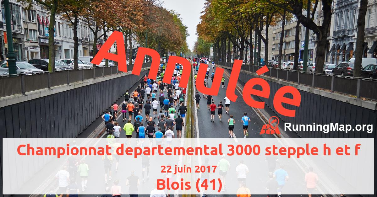 Championnat departemental 3000 stepple h et f