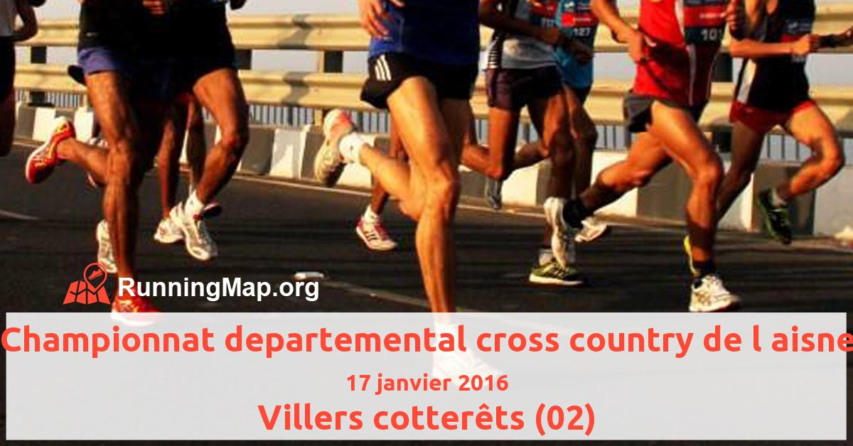 Championnat departemental cross country de l aisne