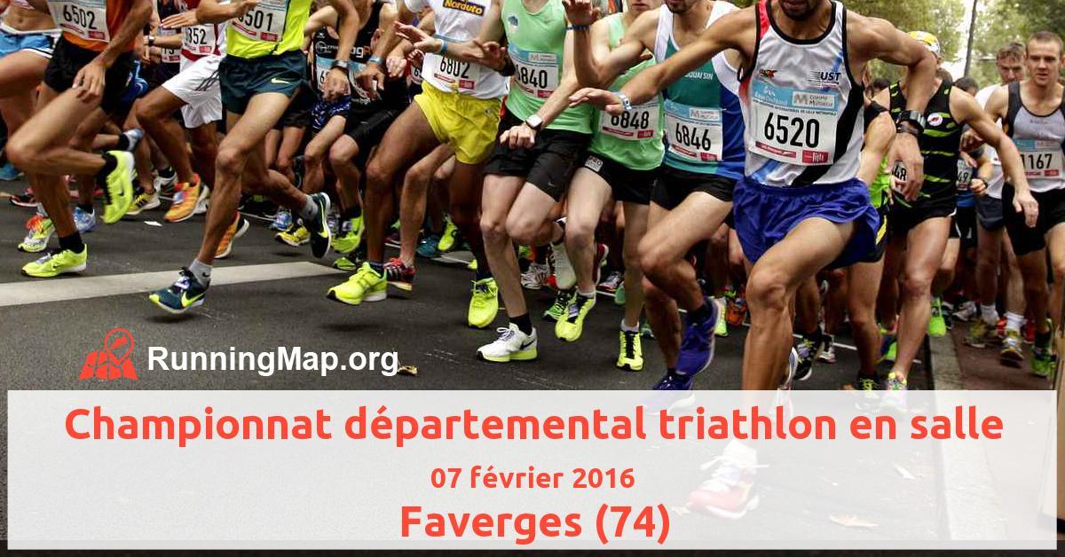 Championnat départemental triathlon en salle