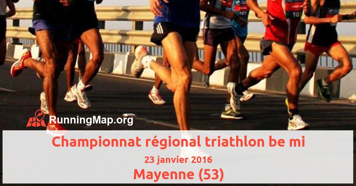 Championnat régional triathlon be mi