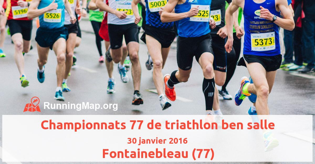 Championnats 77 de triathlon ben salle
