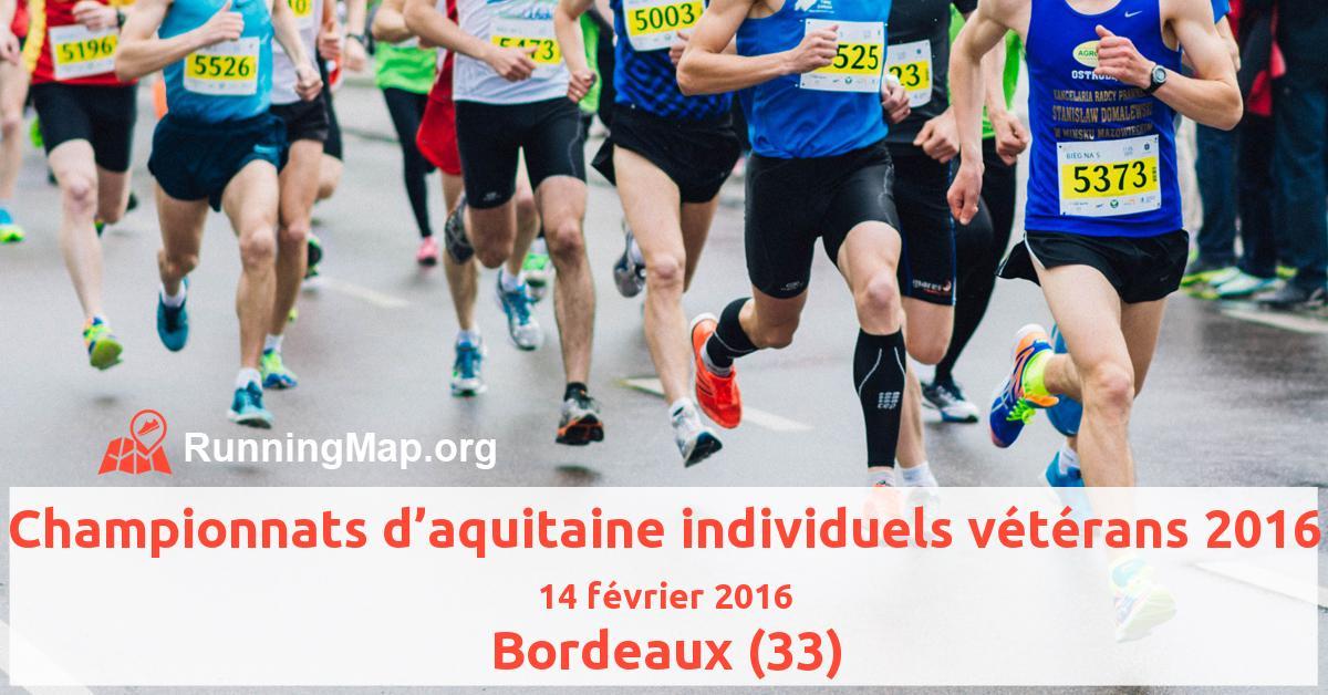 Championnats d'aquitaine individuels vétérans 2016
