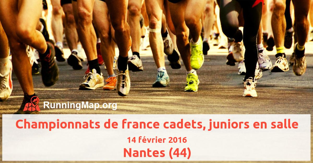 Championnats de france cadets, juniors en salle