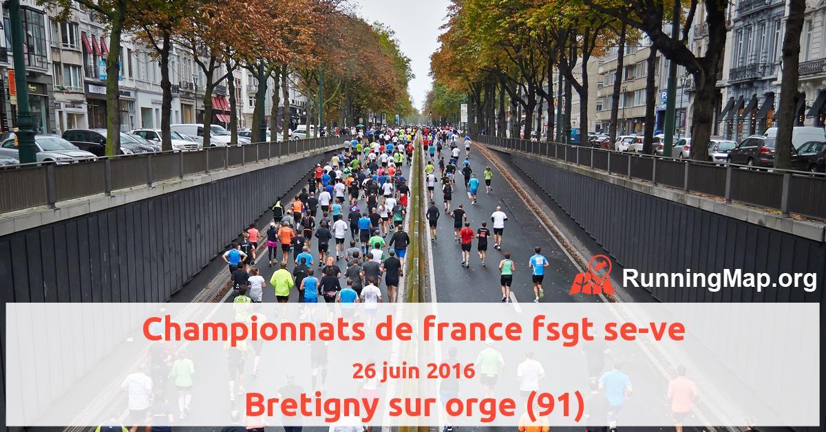 Championnats de france fsgt se-ve