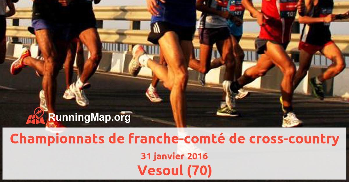 Championnats de franche-comté de cross-country