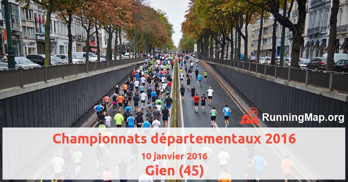 Championnats départementaux 2016