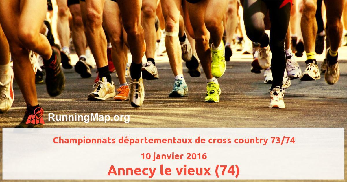 Championnats départementaux de cross country 73/74