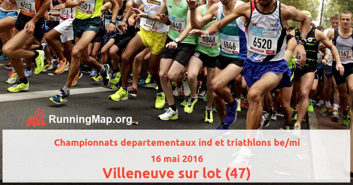 Championnats departementaux ind et triathlons be/mi