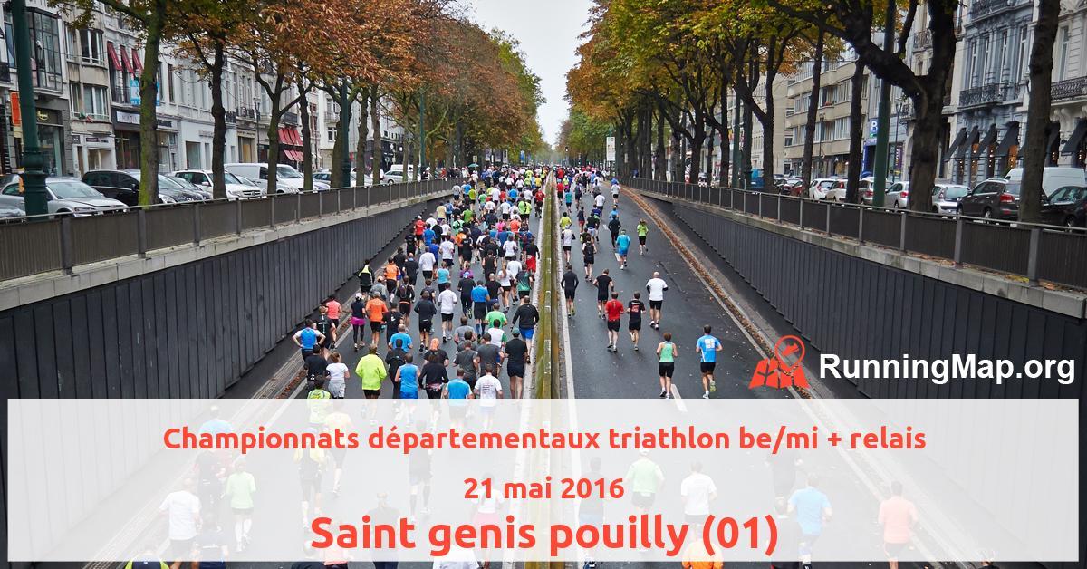Championnats départementaux triathlon be/mi + relais