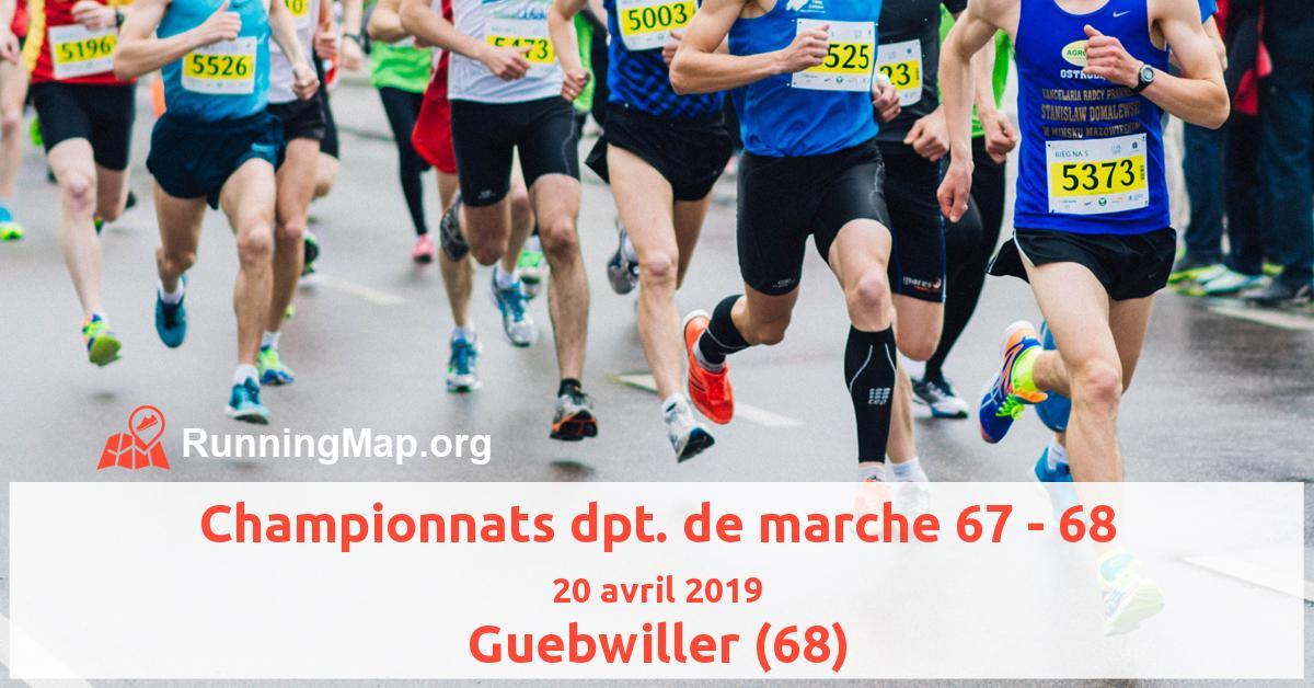 Championnats dpt. de marche 67 - 68
