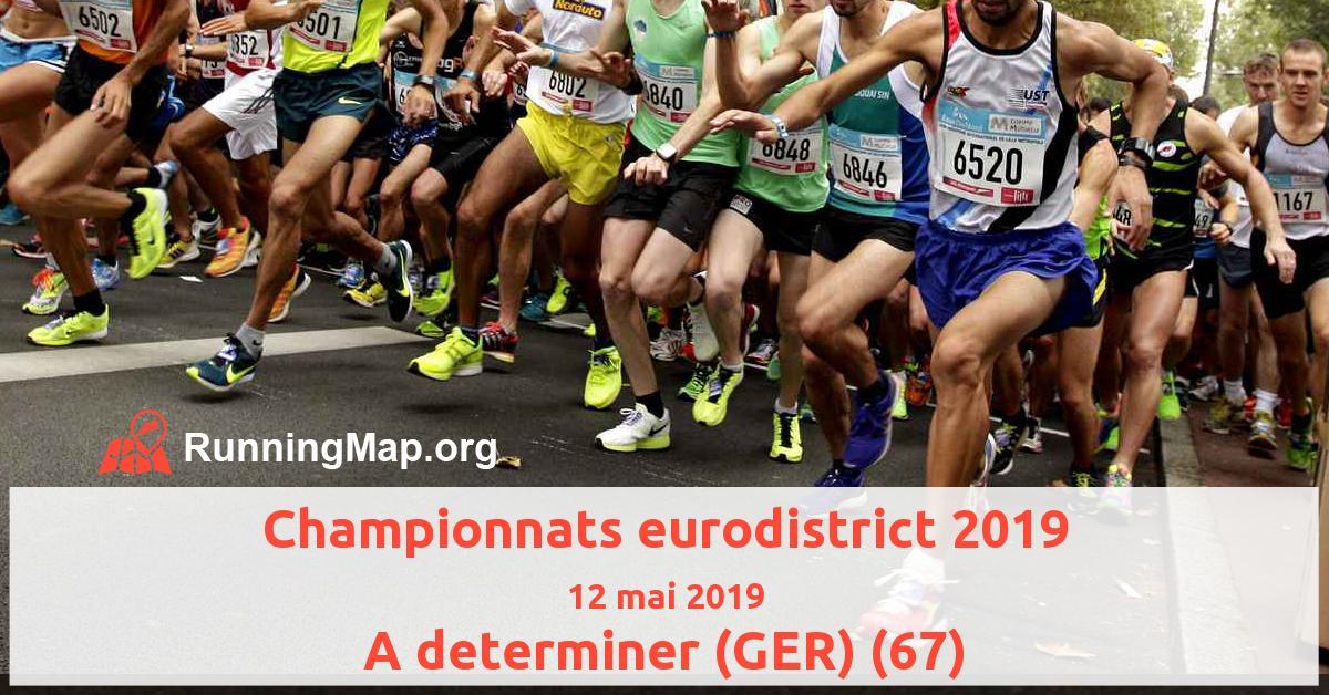 Championnats eurodistrict 2019