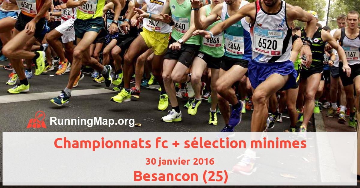 Championnats fc + sélection minimes