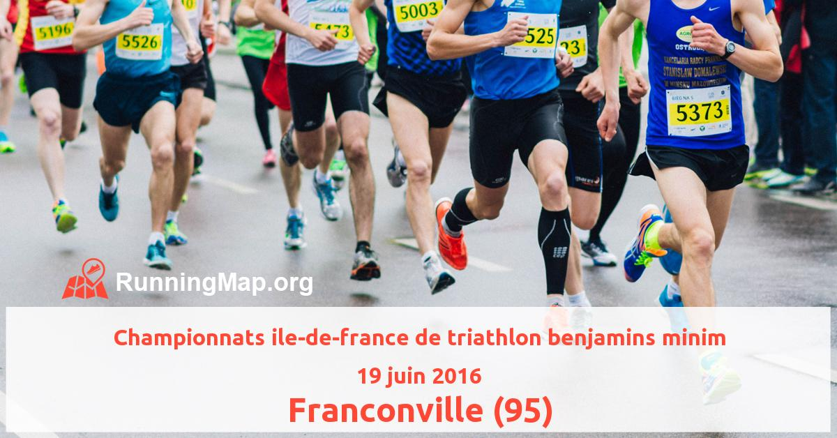 Championnats ile-de-france de triathlon benjamins minim