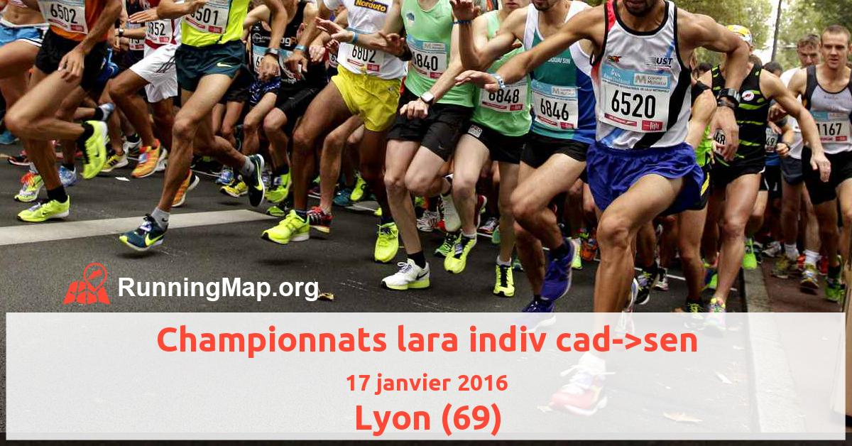 Championnats lara indiv cad->sen