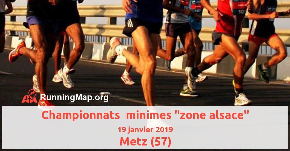 Championnats  minimes zone alsace