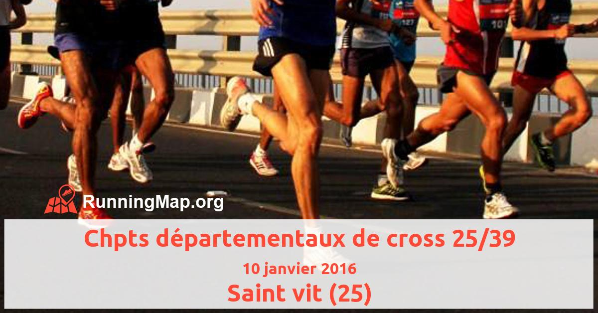 Chpts départementaux de cross 25/39