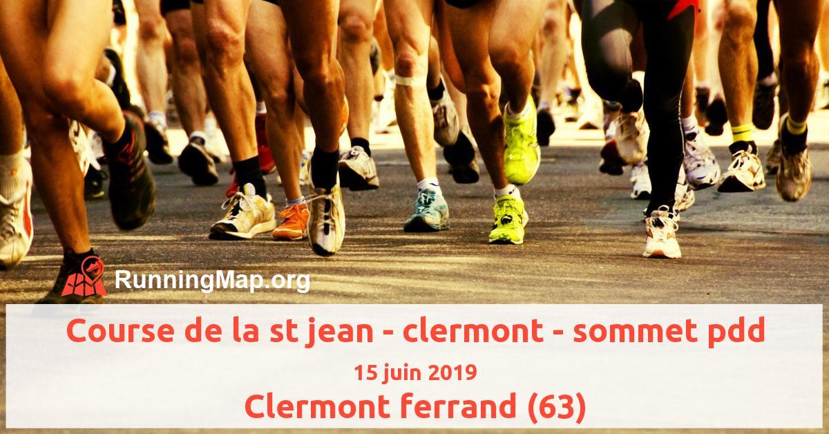 Course de la st jean - clermont - sommet pdd