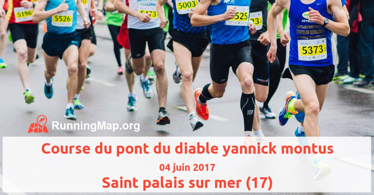 Course Du Pont Du Diable Yannick Montus 2017 Running Map