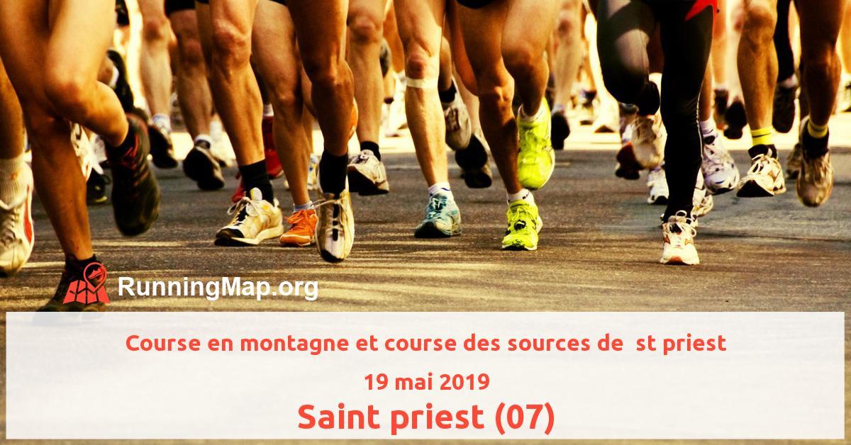 Course en montagne et course des sources de  st priest