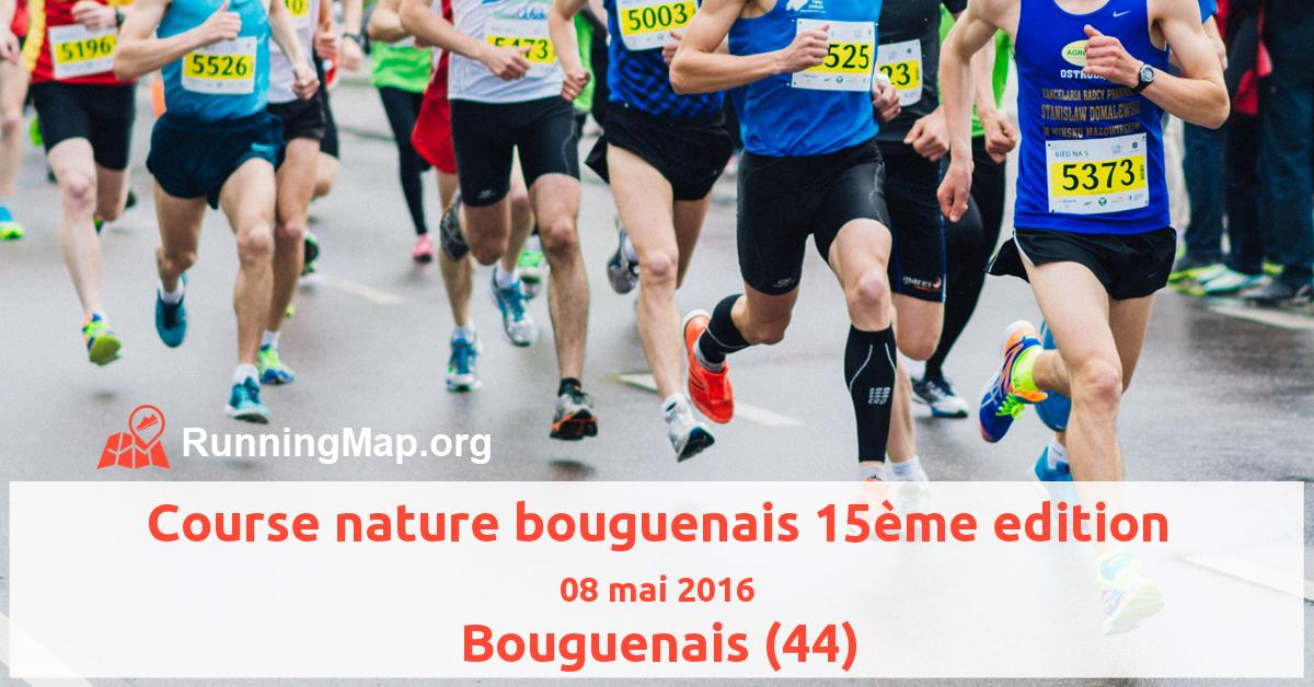 Course nature bouguenais 15ème edition