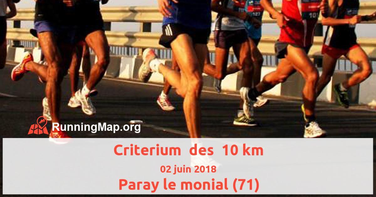 Criterium  des  10 km
