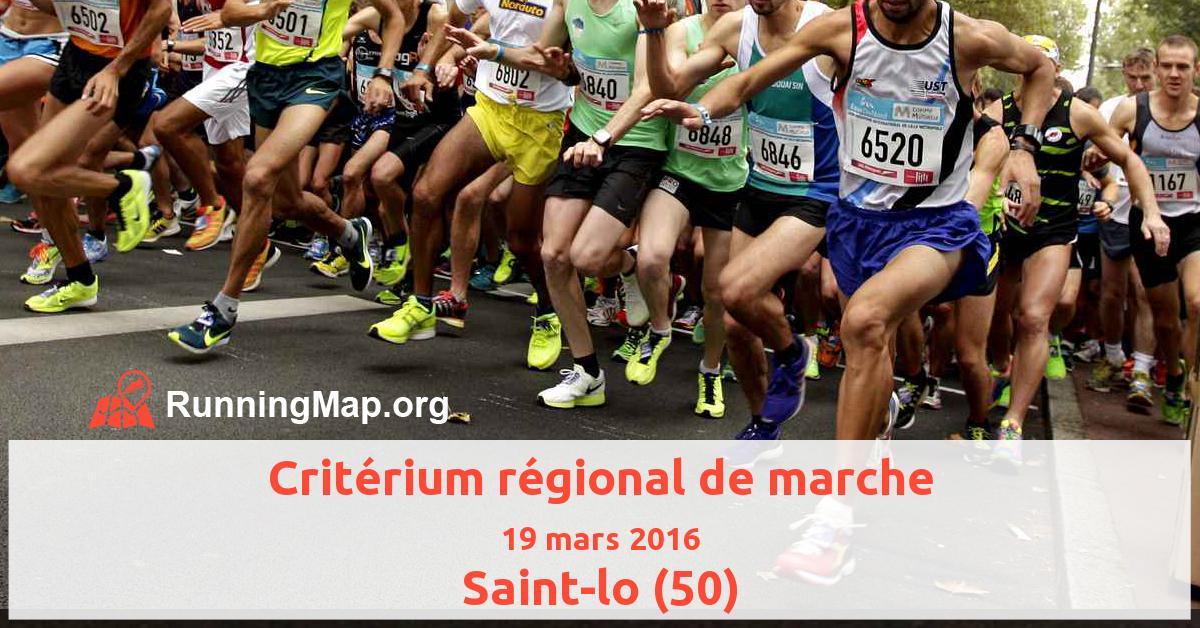 Critérium régional de marche