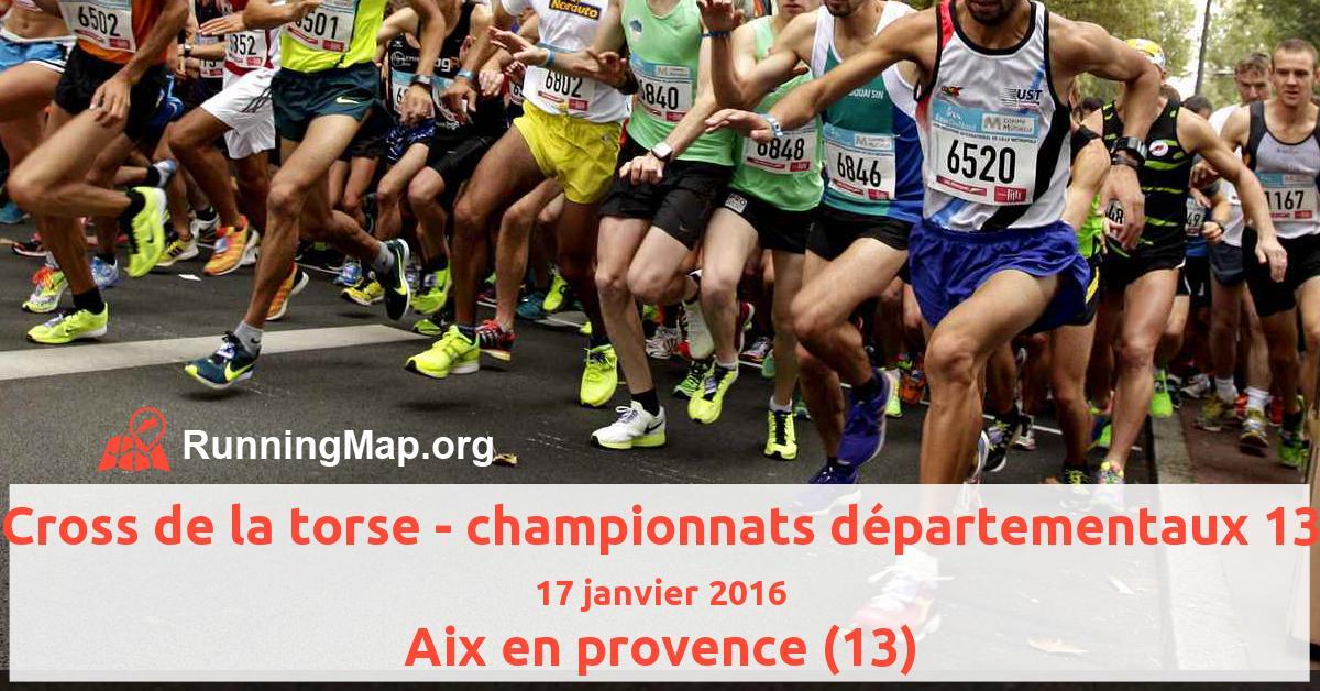 Cross de la torse - championnats départementaux 13